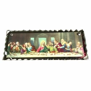 """Vintage """"The Last Supper"""" mirror wall hanging"""